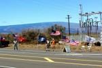 """July 15, 2012 Pro-war """"Walking Eagles"""" At Pohakuloa"""
