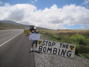July 16, 2014 RIMPAC Pohakuloa Protest 001