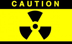 radiation symbol caution
