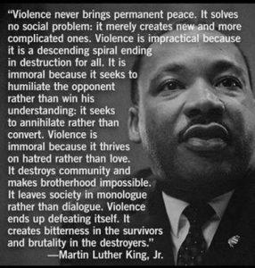 MLK on violence#2