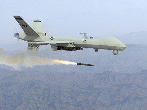 Reaper drone firing