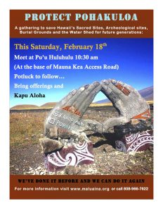 Feb. 18, 2017 Save Pohakuloa
